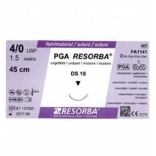 ПГА-Ресорба (PGA-RESORBA) DS 18. 1,5 EP 4-0 USP. 0.45 м, неокрашен